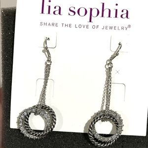 "New Beautiful Lia Sophia ""Radiant"" Dangle Earrings"